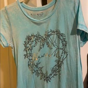 Miss Me girls' graphic tee, size xl